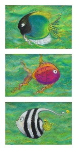Three Fishes - SOLD