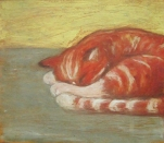 Red Cat and Yellow Wall - AVAILABLE