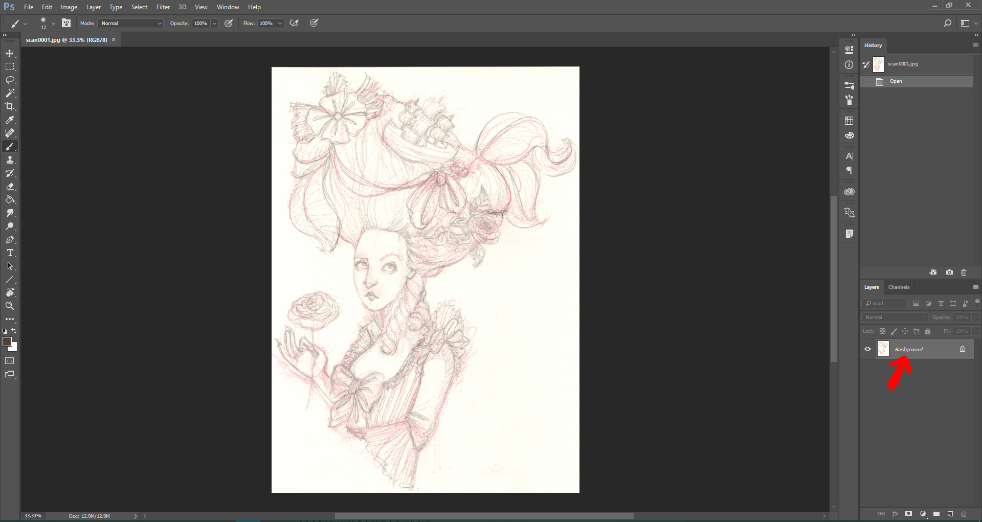 Line Art Help : How to clean your line drawing in photoshop u audrey dowling