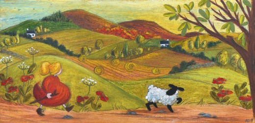 Over the hills and far away - SOLD